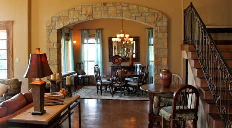 Interior Stone Arch Weatherstone Homes